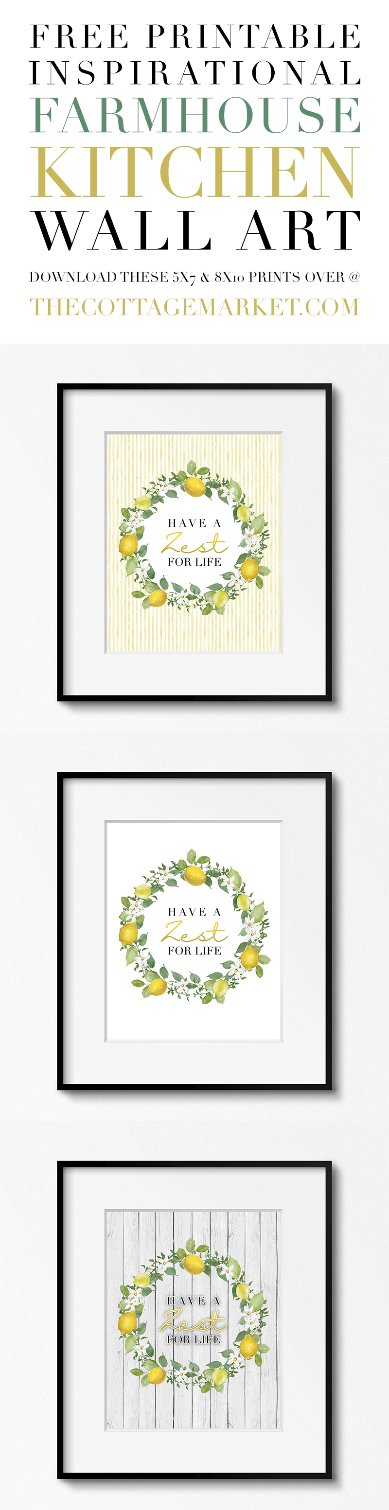 picture about Printable Prints named The Ideal Free of charge Printable Farmhouse Wall Artwork Prints - The