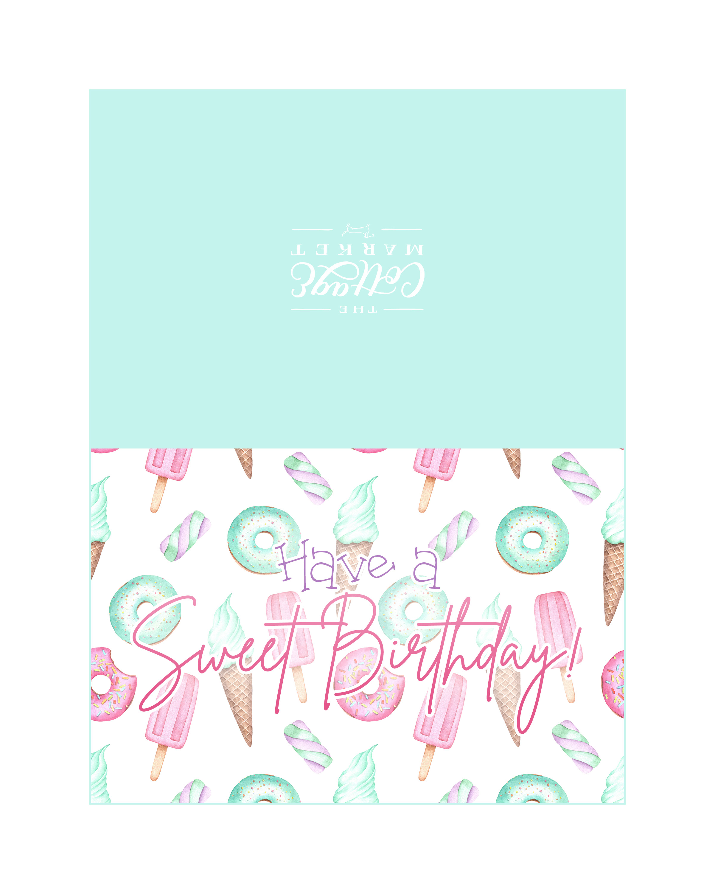 image regarding Printable Thinking of You Card referred to as Cost-free Printable Greeting Card Assortment - The Cottage Sector