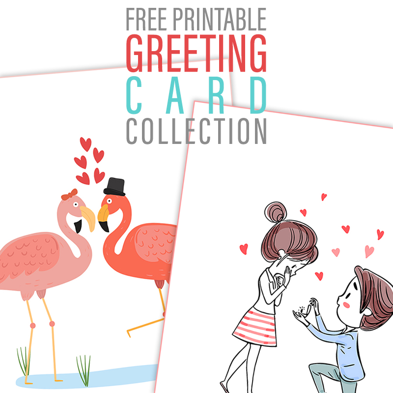 graphic relating to Printable Greeting Card Stock titled Cost-free Printable Greeting Card Variety - The Cottage Sector