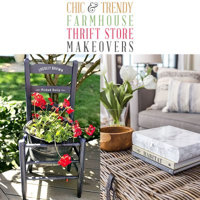 Chic and Trendy Farmhouse Thrift Store Makeovers