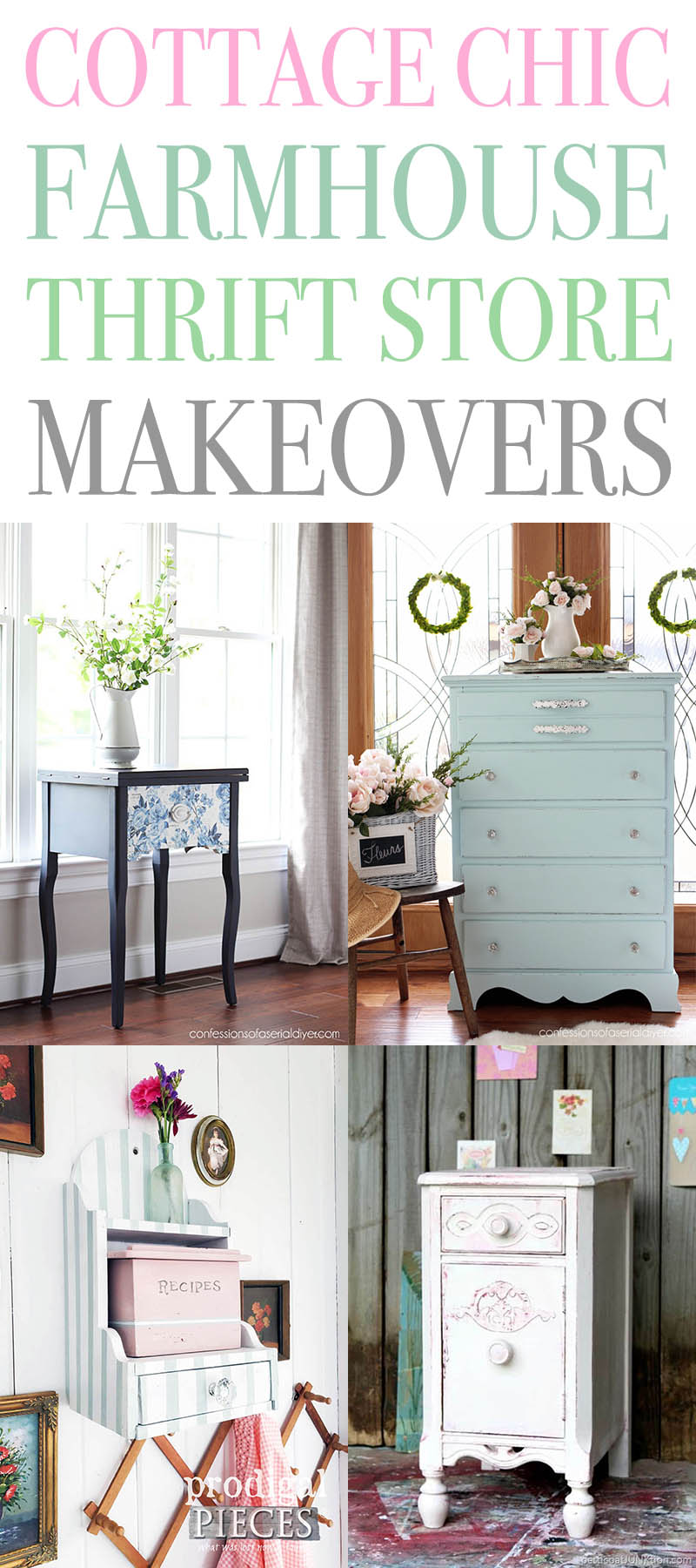 Cottage Chic Farmhouse Thrift Store Makeovers