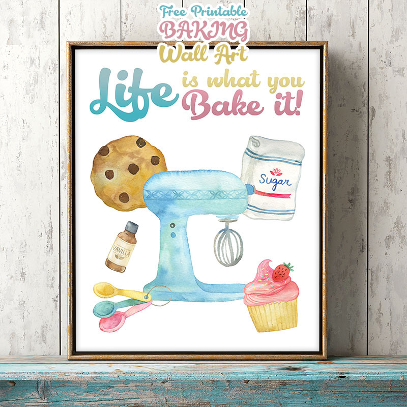 Free Printable Baking Wall Art will make your space a touch sweeter! Adding art to your wall is always a wonderful thing! Come and enjoy your printable!