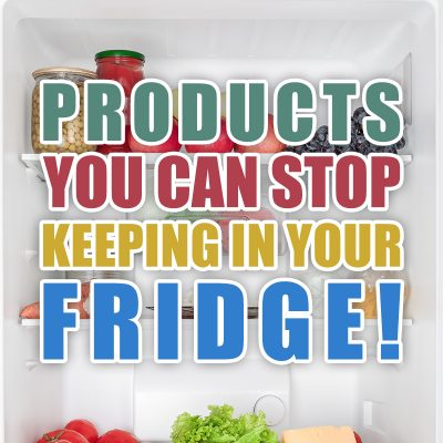 Products You Can Stop Keeping In Your Fridge
