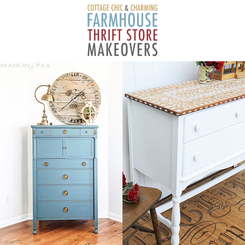 Cottage Chic and Charming Farmhouse Thrift Store Makeovers are going to Inspired you to create your own original diy project that will be amazing!