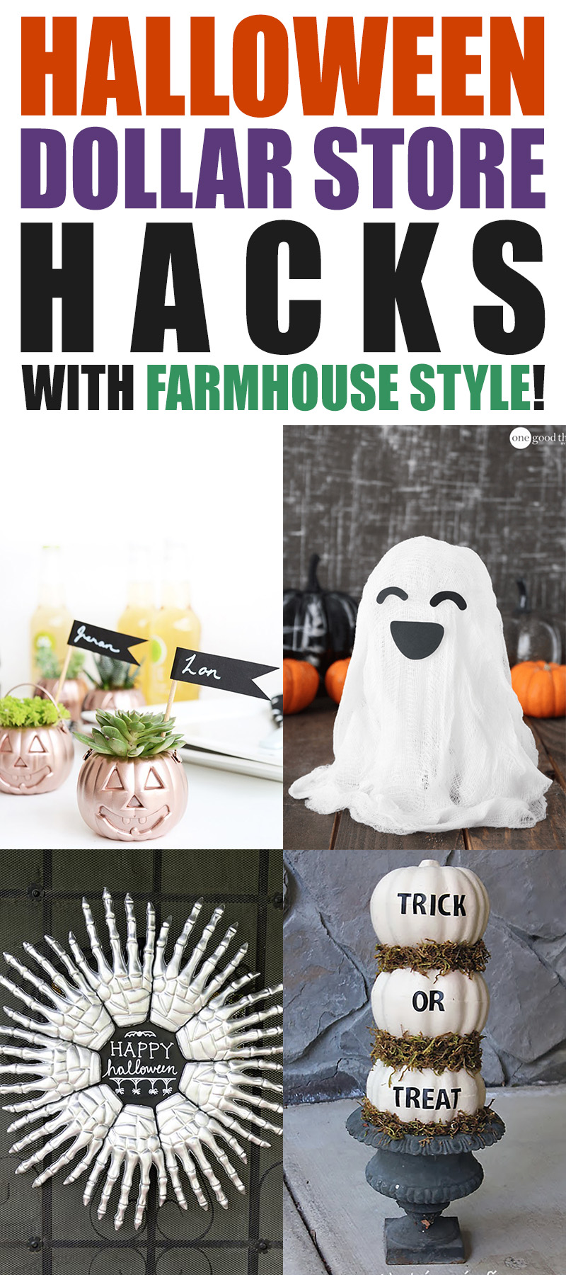 Halloween Dollar Store Hacks with Farmhouse Style