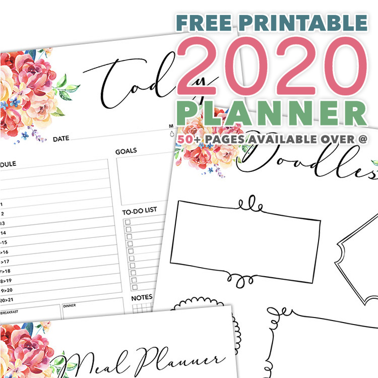 Printable Weekly Planner 2020.Free Printable 2020 Planner 50 Plus Printable Pages The