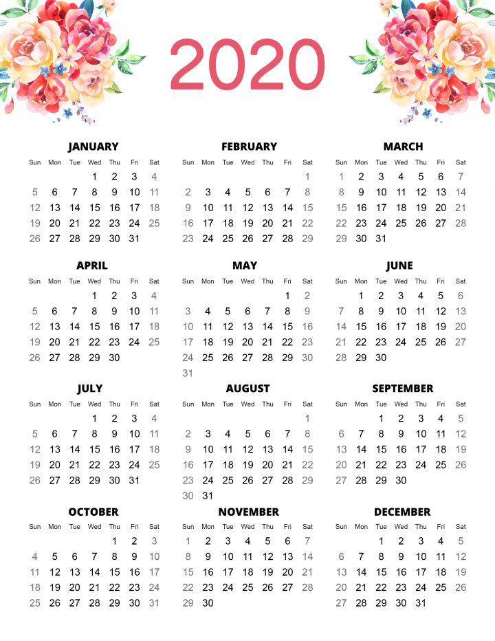 This is a graphic of Sizzling Printable Planner Pages 2020