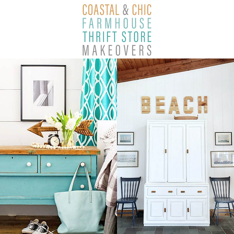 Coastal and Chic Farmhouse Thrift Store Makeovers are going to Inspired you to create your own original diy project that will be amazing!