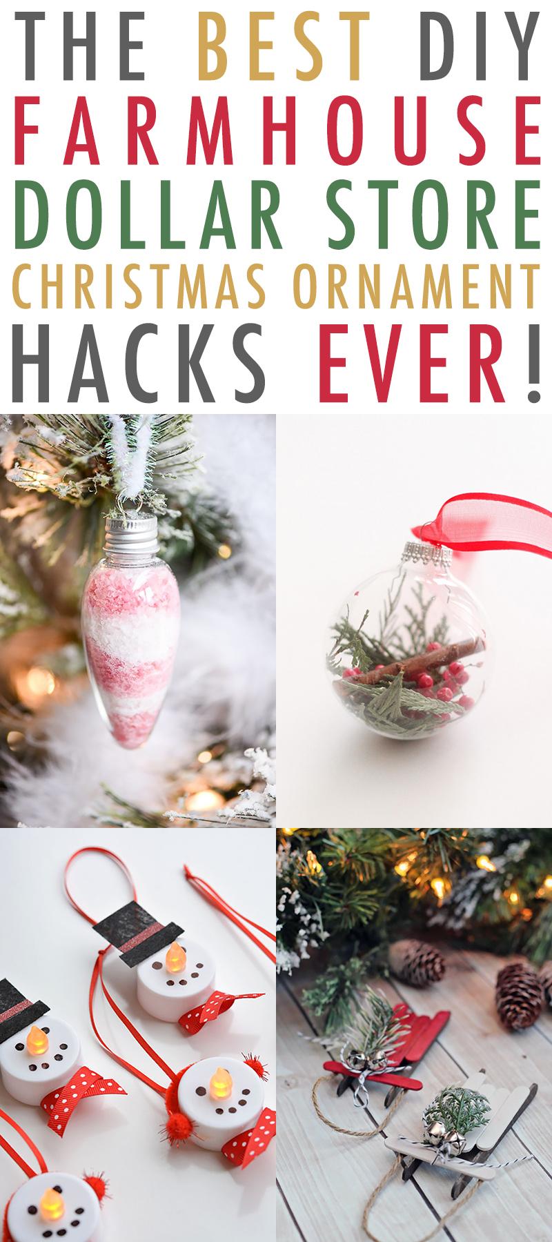 The Best Diy Dollar Store Christmas Ornament Hacks Ever
