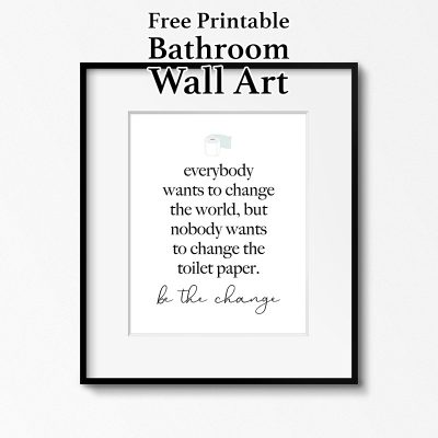 Free Printable Bathroom Wall Art