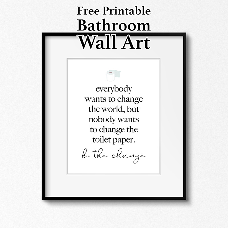 graphic about Free Printable Wall Art for Bathroom identify Absolutely free Printable Toilet Wall Artwork - The Cottage Sector