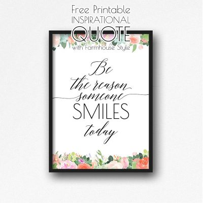 Free Printable Inspirational Quote with Farmhouse Style