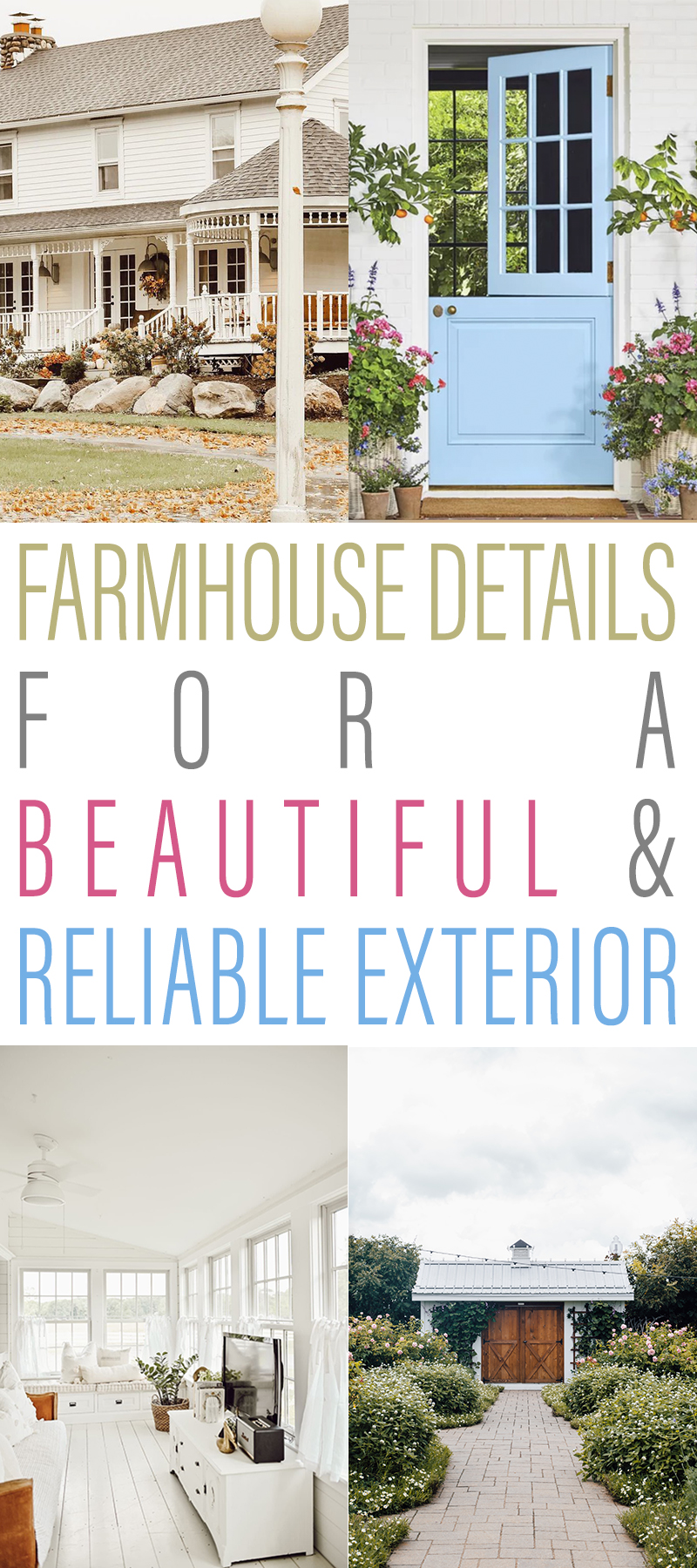Farmhouse Details for a Beautiful and Reliable Exterior Ideas will help you as you stylize the outside of your wonderful home.
