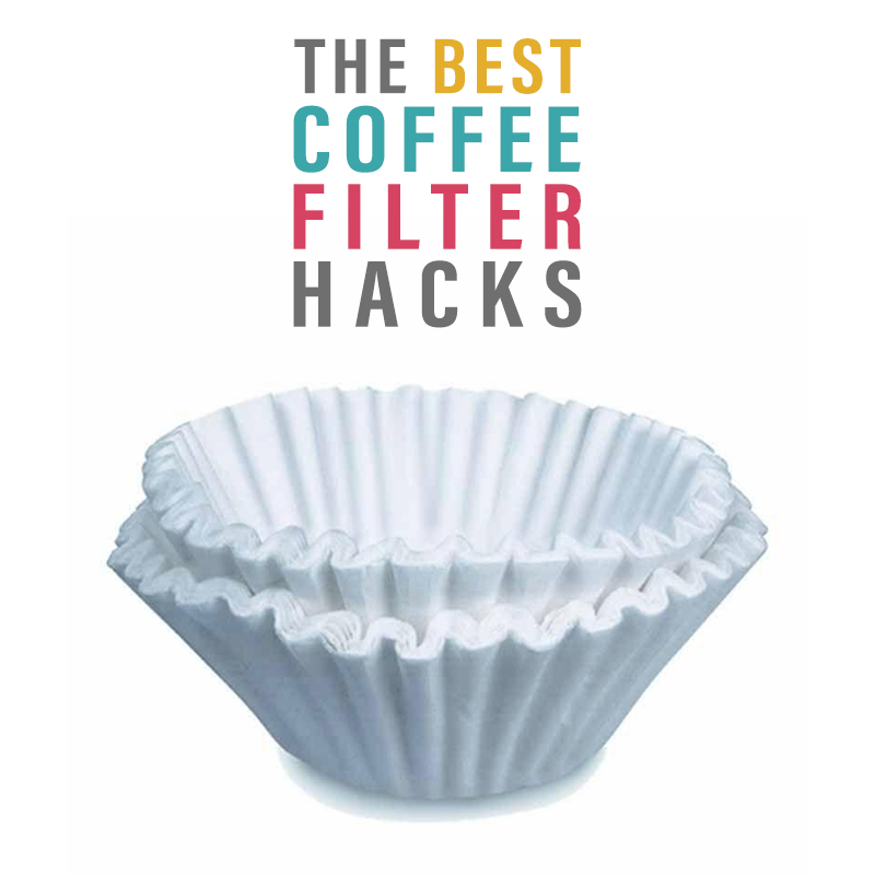 This Collection of The Best Coffee Filter Hacks will really lend you a helping hand with everyday things like splatters in the microwave, draining french fries and more!