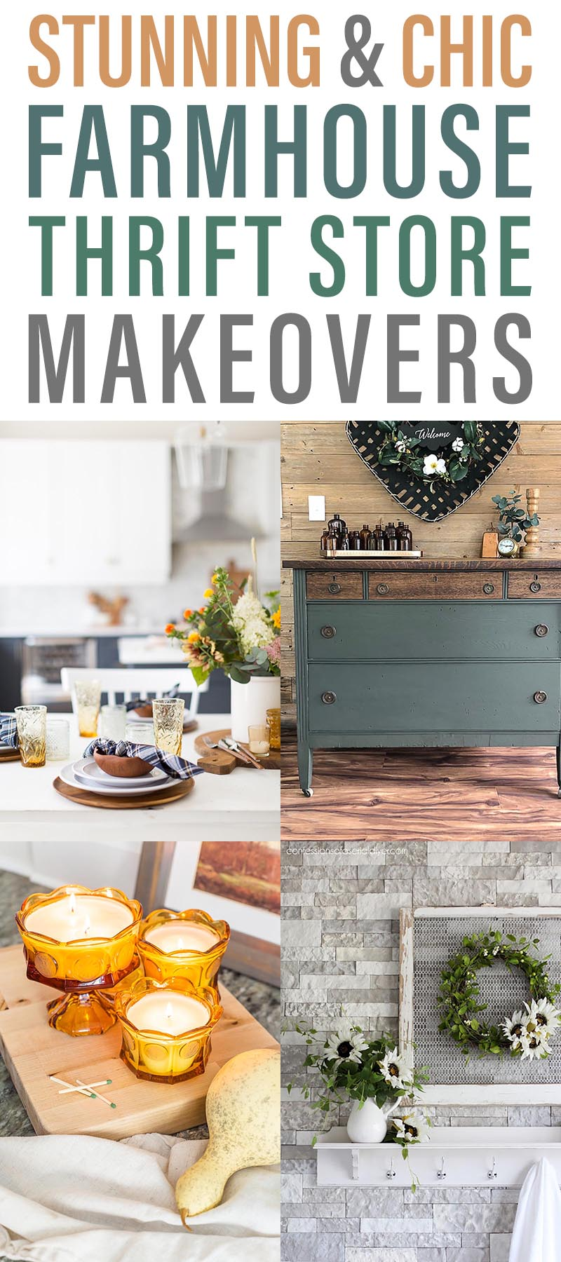 Stunning and Chic Farmhouse Thrift Store Makeovers are going to Inspired you to create your own original diy project that will be amazing!