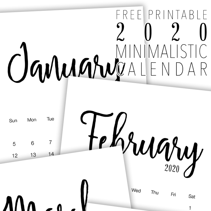 How about a Free Printable 2020 Minimalist Calendar to get organized for the New Year! It has a simple style we know so many of you adore! Enjoy!