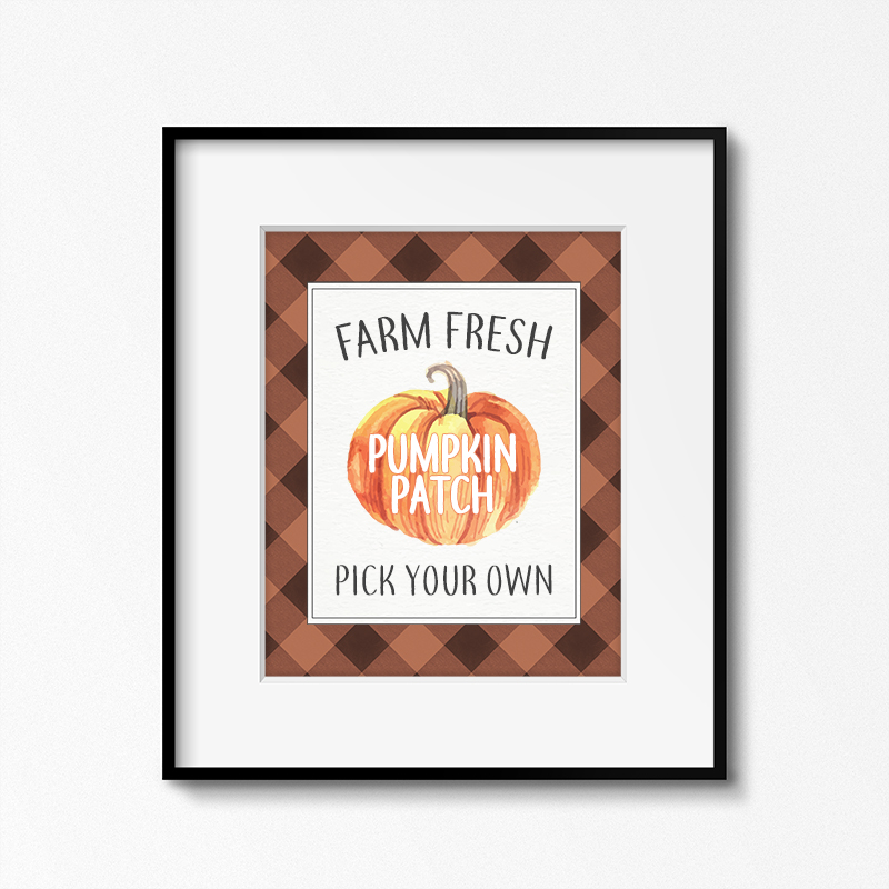 A Free Printable Farmhouse Pumpkin Patch Sign is just what you need to add to your fabulous Fall Decor. It will add charm to your Wall Gallery, Vignette, Shelves and more!