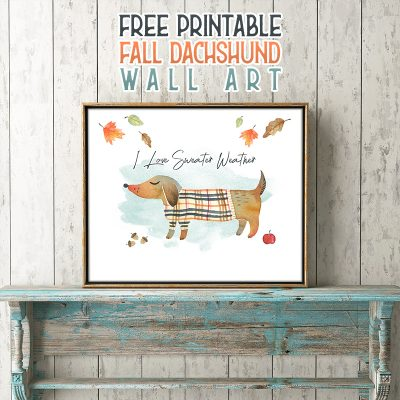 Free Printable Fall Dachshund Wall Art