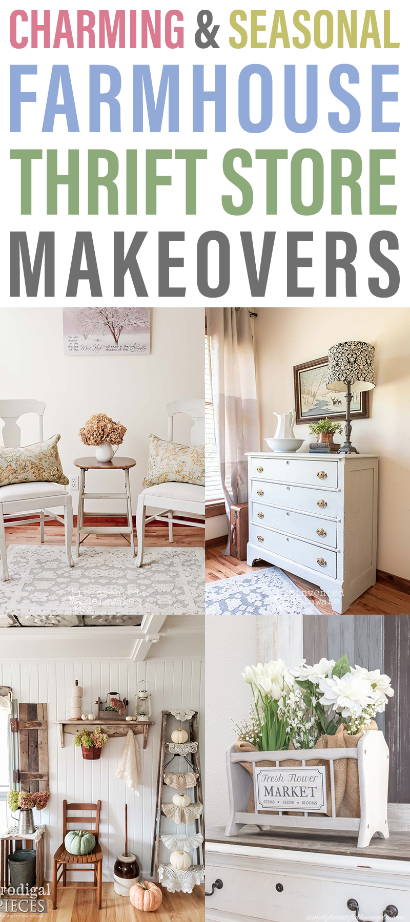 Charming and Seasonal Farmhouse Thrift Store Makeovers are going to Inspired you to create your own original diy project that will be amazing!