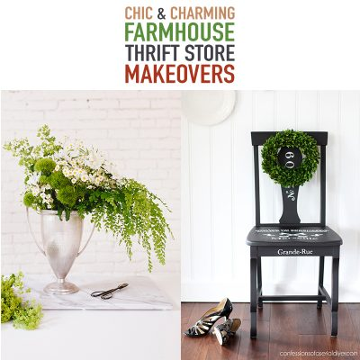 Chic and Charming Farmhouse Thrift Store Makeovers