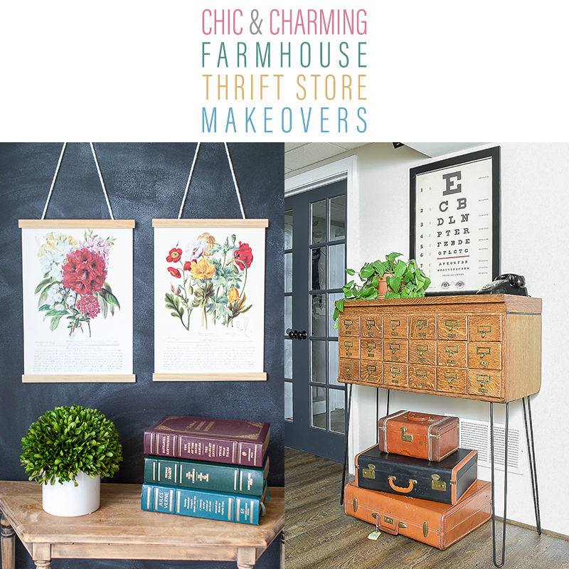 Chic and Charming Farmhouse Thrift Store Makeovers are going to Inspired you to create your own original diy project that will be amazing!