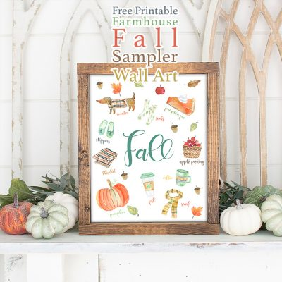 Free Printable Farmhouse Fall Sampler Wall Art