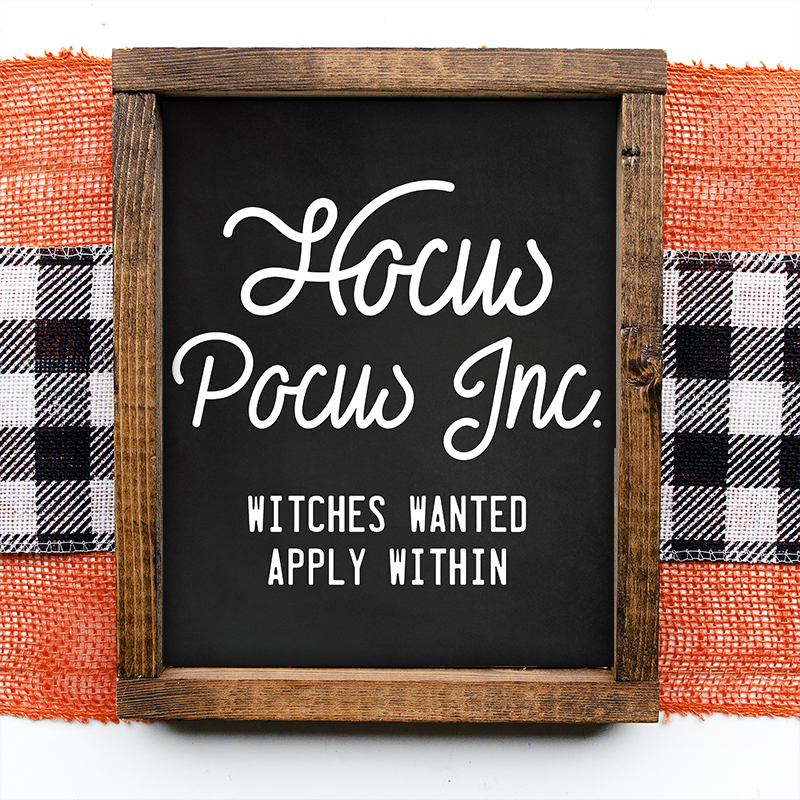 This Hocus Pocus Free Printable will add a touch of Fun Halloween Charm to any space in your home! Add it to your Gallery Wall... it will be MAGICAL!