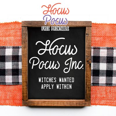 Hocus Pocus Free Printable Wall Art