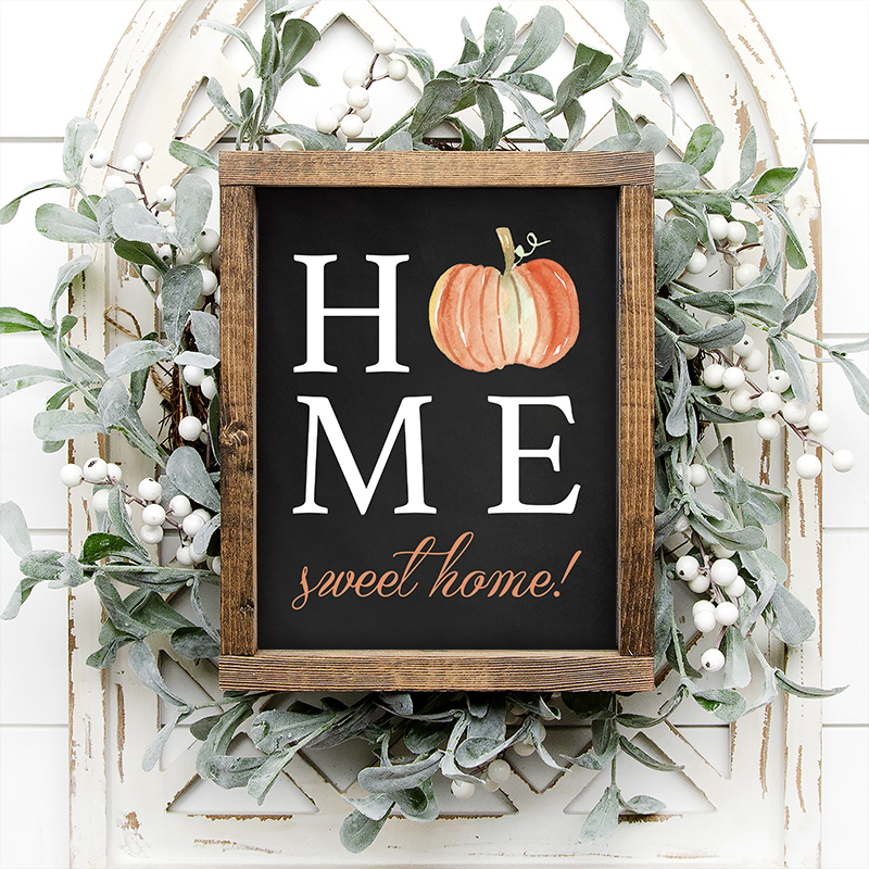This beautiful piece of Free Printable Fall Wall Art will bring a ton of Autumn charm into your Home Sweet Home. You can also share your Free Printable Fall Wall Art with your friends and family!