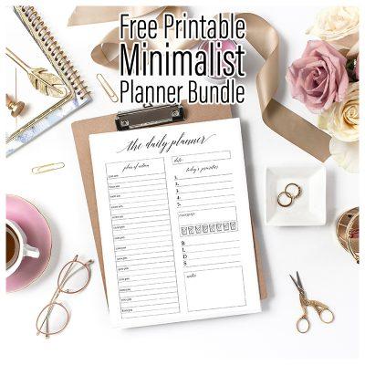 Free Printable Minimalist Planner Bundle