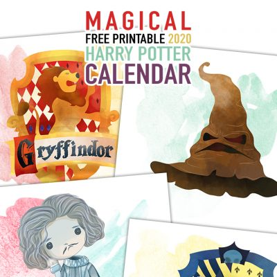 Magical Free Printable 2020 Harry Potter Calendar