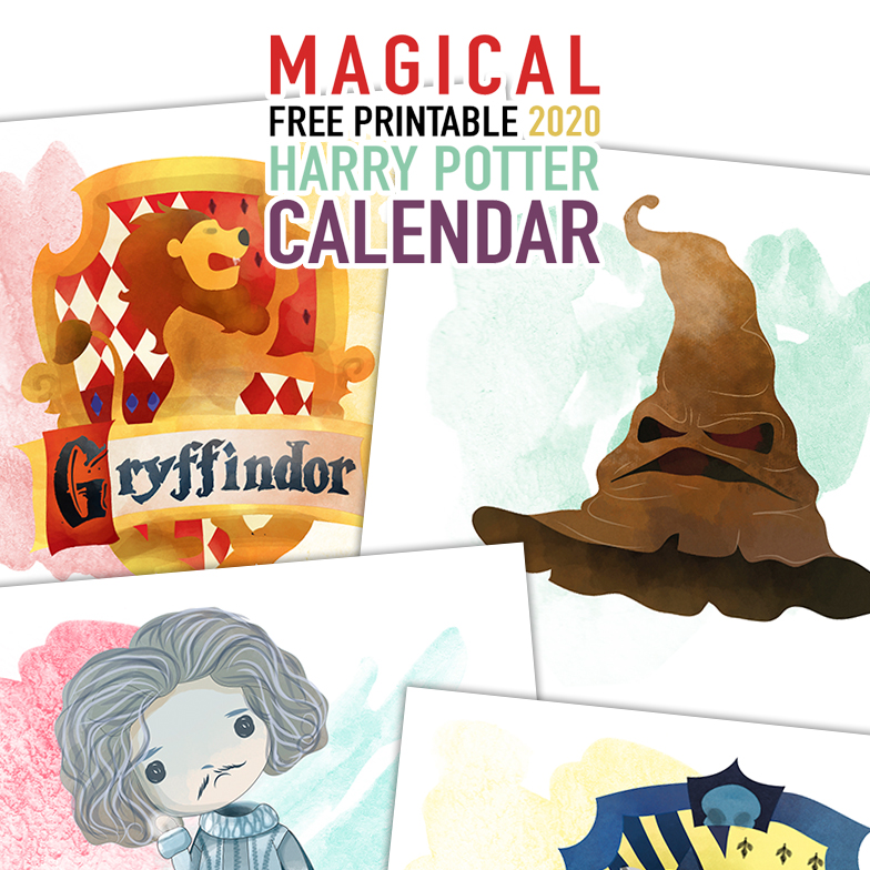 A Magical Free Printable 2020 Harry Potter Calendar is just what you need to get you organized for 2020! Mark those important dates and even write notes!