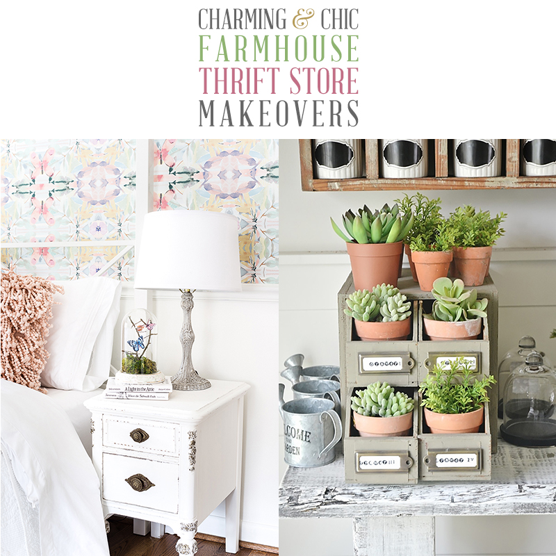 Unique and Chic Farmhouse Thrift Store Makeovers are going to Inspired you to create your own original diy project that will be amazing!