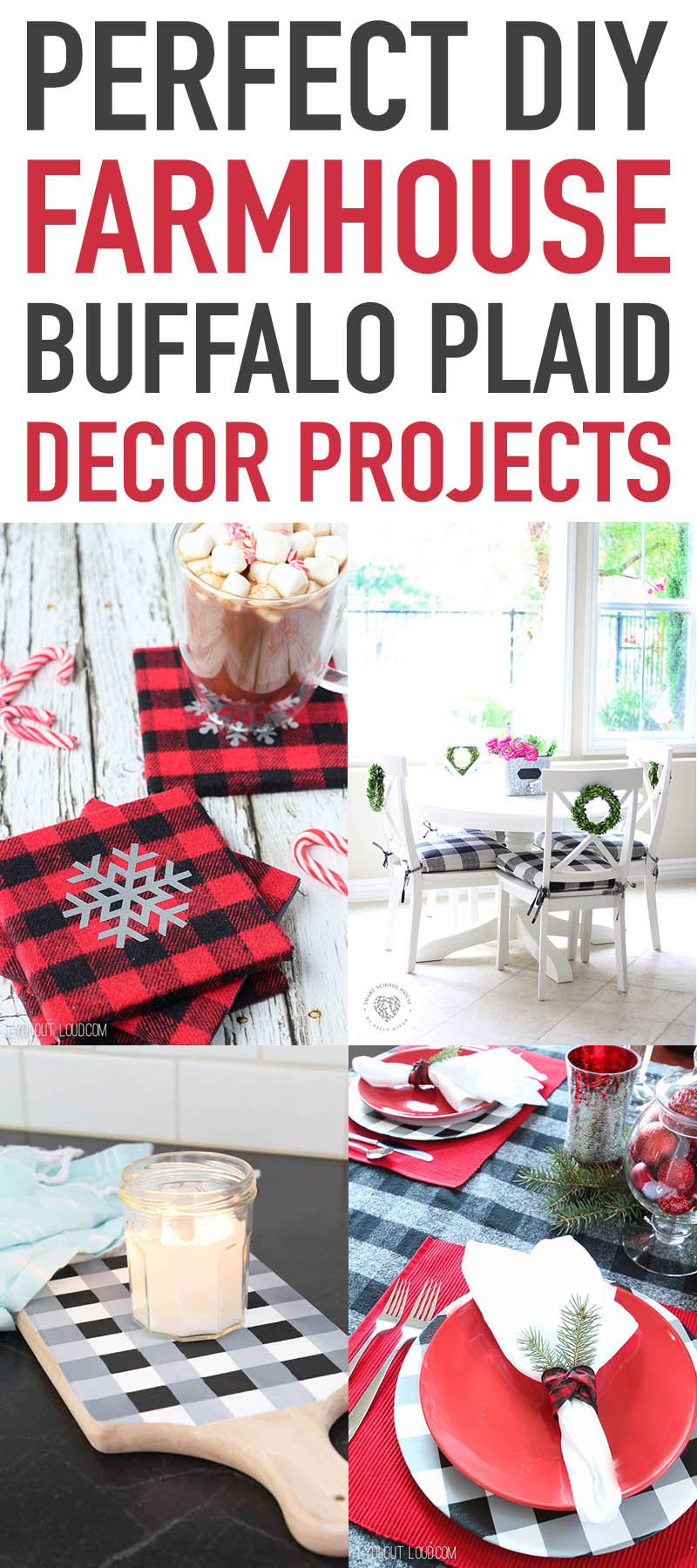 decor and craft ideas using plaid and buffalo check design