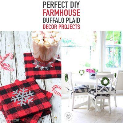 Perfect DIY Farmhouse Buffalo Plaid Decor Projects