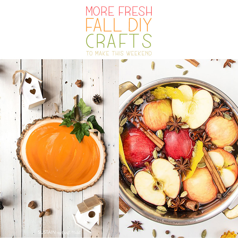 Time for some amazing Fresh Fall DIY Crafts To Make Now!  Tons of creations with Farmhouse Style and some with Trendy Fabulousness!