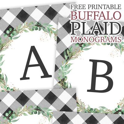 Free Printable Buffalo Plaid Monograms