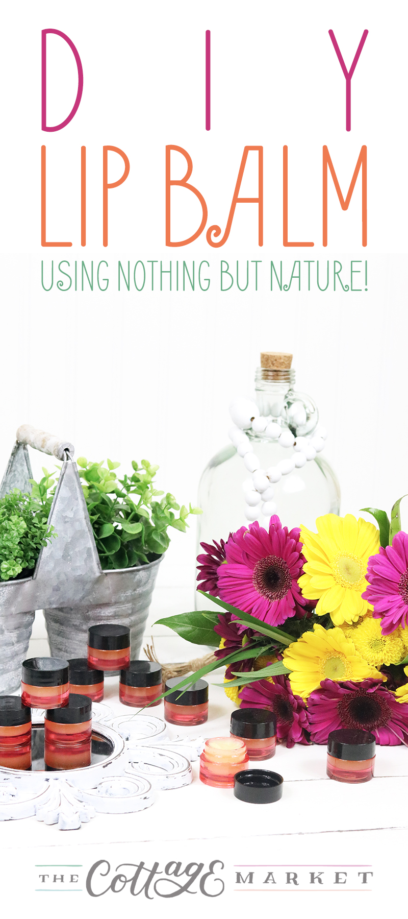 DIY Lip Balm - Using Nothing But Nature is what it is all about today! Time to switch out those chemical heavy lip balms for something way more natural.