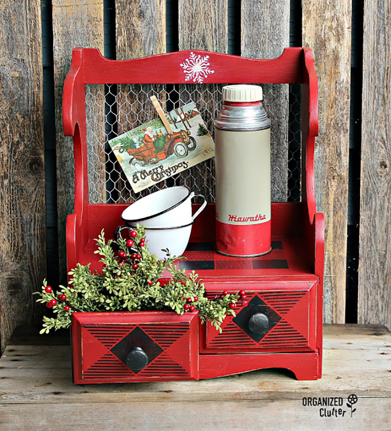 Come and check out some Festive Christmas Farmhouse Thrift Store Makeovers that will add cheer and fun to our home!