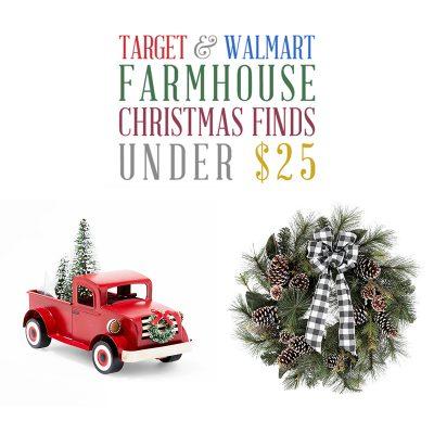 Target & Walmart Farmhouse Christmas Finds Under $25