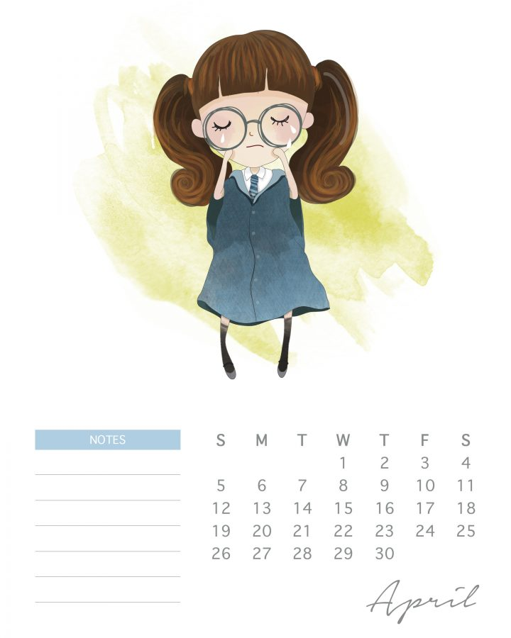 A Whimsical Free Printable 2020 Harry Potter Calendar is just what you need to get you organized for 2020!  Mark those important dates and even write notes!