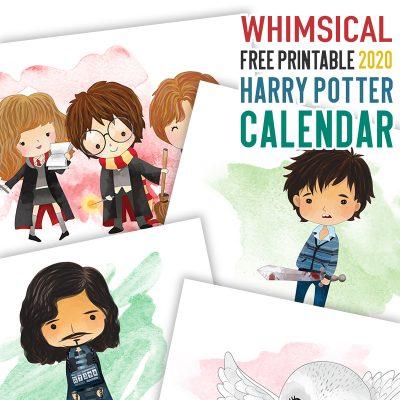 Whimsical Free Printable 2020 Harry Potter Calendar