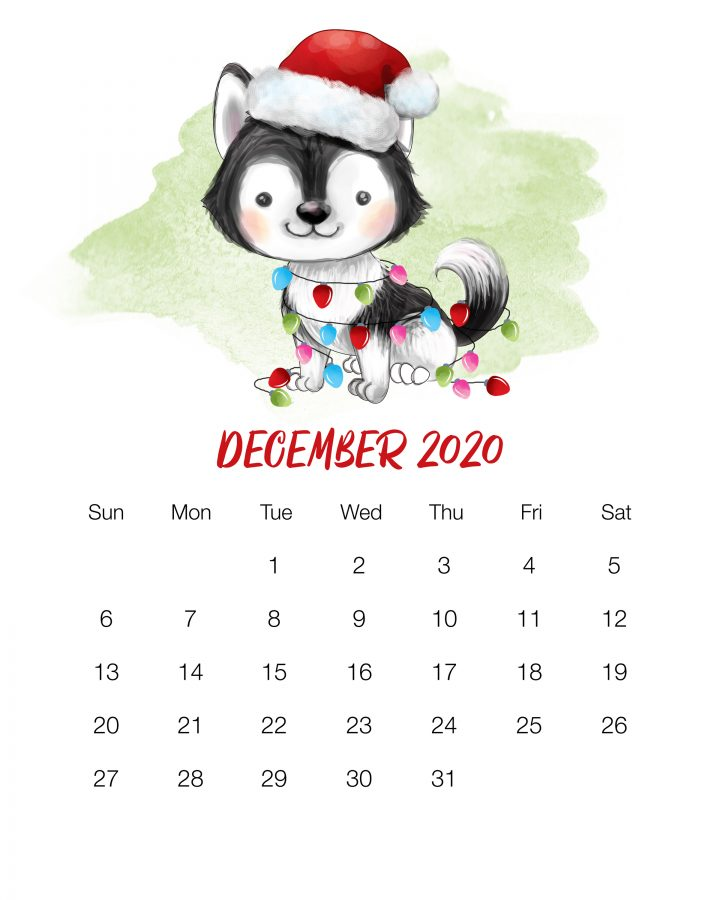 How about a Free Printable 2020 Cute Dog Calendar to get organized for the New Year! It has a happy style we know so many of you adore! Enjoy!