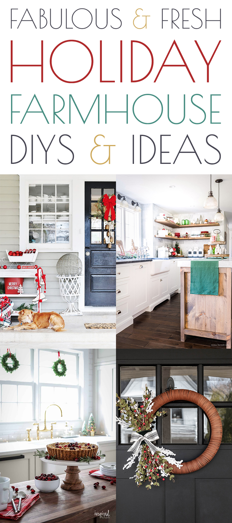 Fabulous and Fresh Holiday Farmhouse DIYS and Ideas are waiting to inspire you to create. All the newest happenings in the Farmhouse World all in one place.