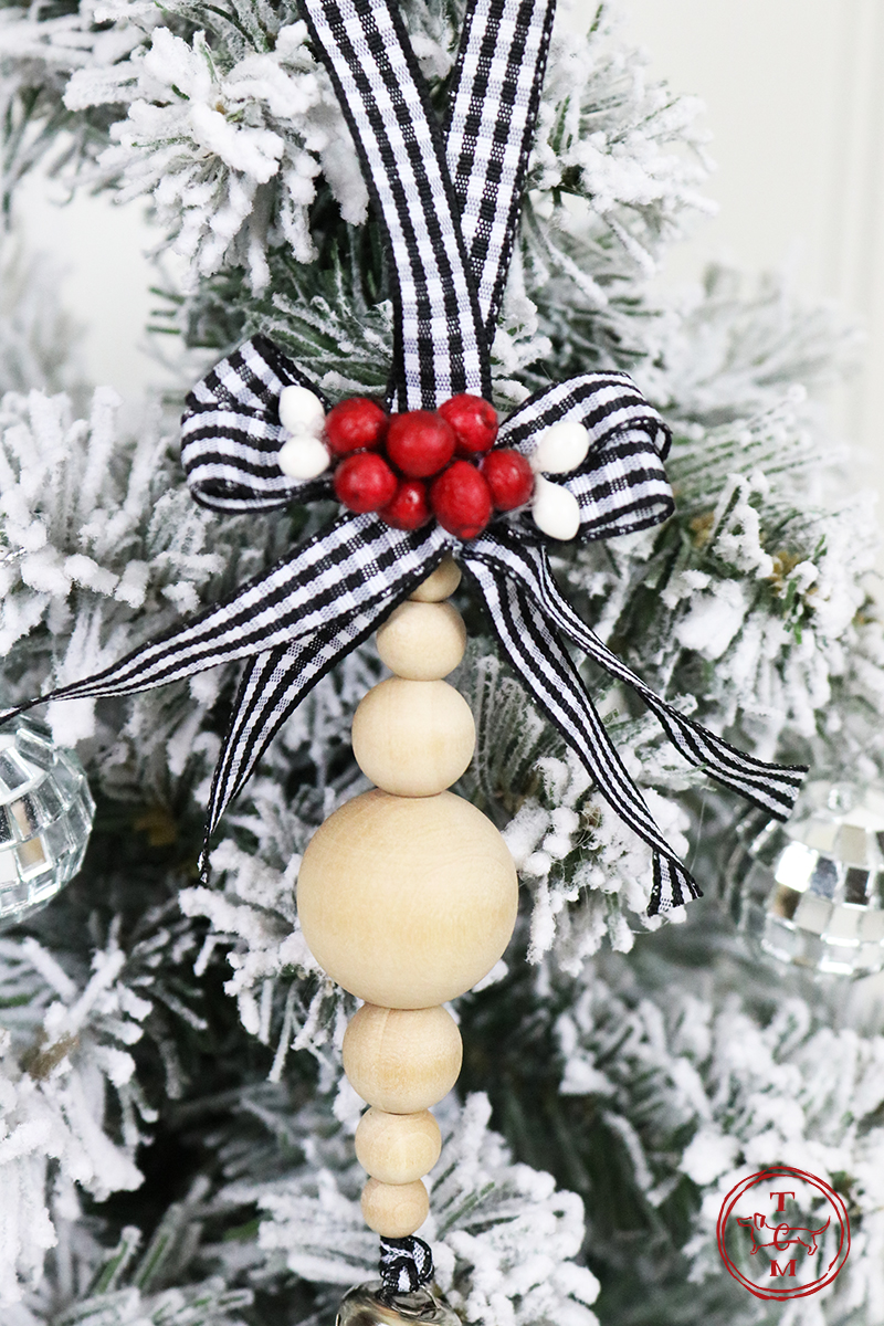 DIY Farmhouse Wood Bead Ornaments are what we are making today and I think you are going to have fun making them! With the basic DIY you can create any style you love!
