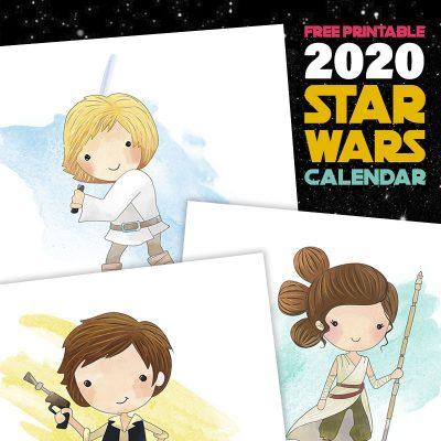Free Printable 2020 Star Wars Calendar