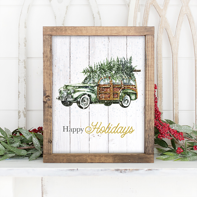 Free Printable Vintage Christmas Wall Art is they way we are celebrating Free Printable Friday today! These beauties have an amazing Farmhouse look I know you will love.