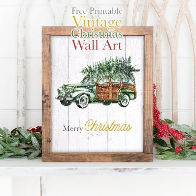 Free Printable Vintage Christmas Wall Art