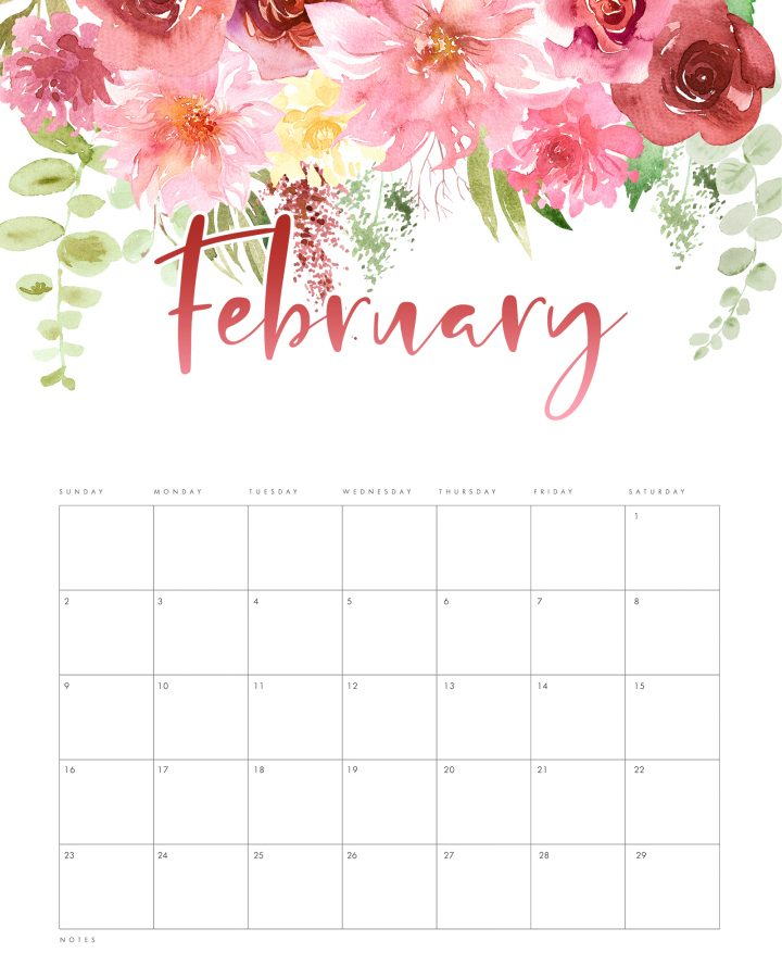 This Free Printable 2020 Floral Drop Calendar is our Holiday Gift For All of our Friends here at The Cottage Market.Come and explore all our Free Caldnars.
