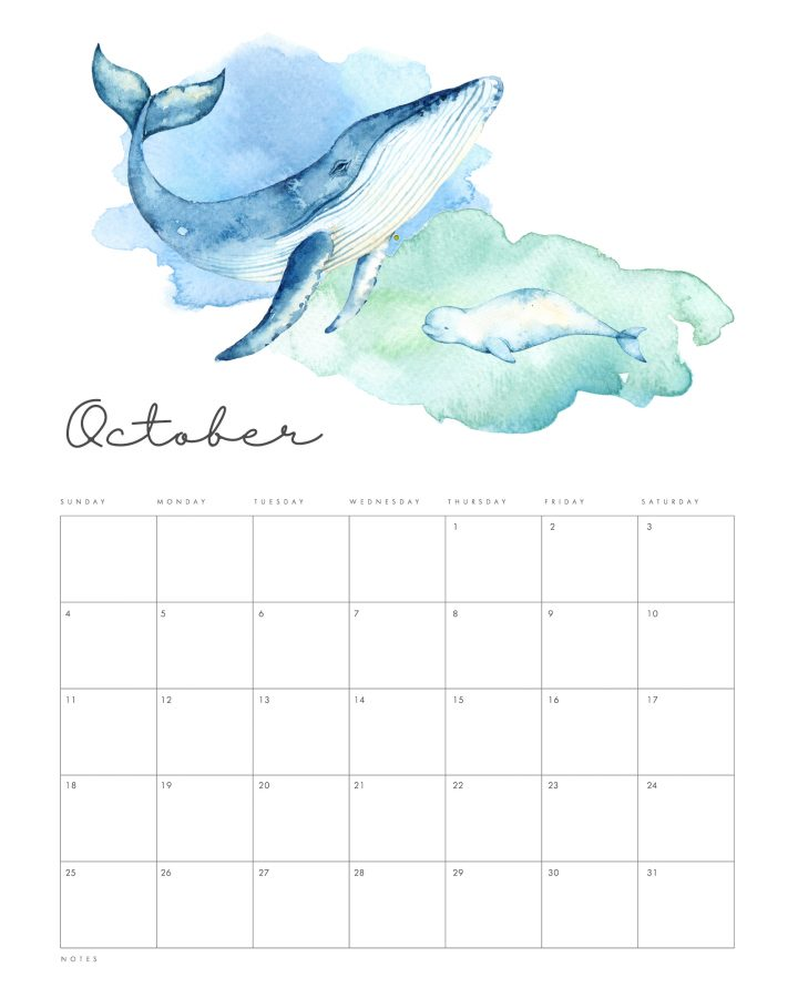 This Free Printable 2020 Under the Sea Calendar is going to get you all totally organized this new year in beautiful style! All of you Under The Seas Lovers... this one is for you.